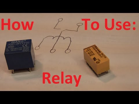 How to use a relay, the easy way  YouTube
