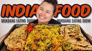 INDIAN FOOD 먹방 MUKBANG (NAAN + CHICKEN BIRYANI RICE + CHICKEN TIKKA) EATING SHOW + YOUTUBE ADVICE