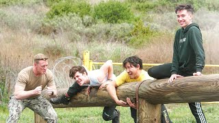 I Challenged James Charles, Markiplier, and Ethan to a Military Obstacle Course