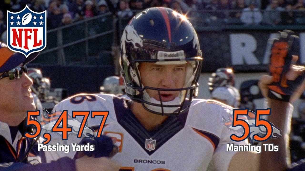 peyton manning single season td record)