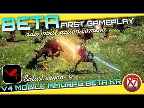 V4 MOBILE (KR) FIRST BETA GAMEPLAY   SOLUSI ERROR-9 DAN CARA DOWNLOAD   INDONESIA