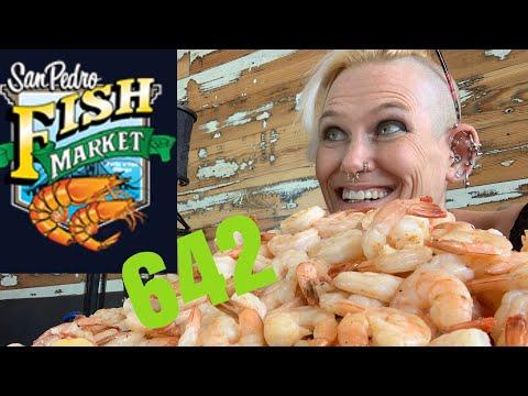FOODBEAST MASSIVE WORLD RECORD OF 642 SHRIMP 🍤 SAN PEDRO FISH MARKET 🍤 OVER 17 LBS