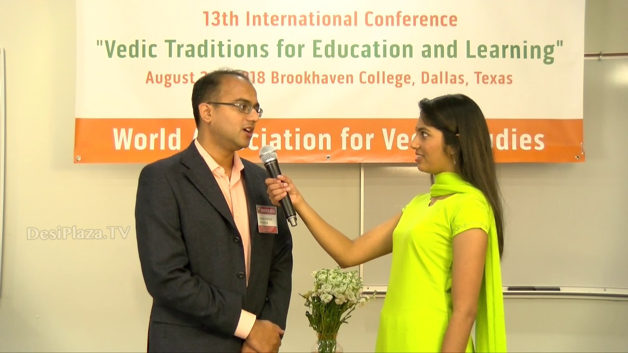 Media Byte / Interview with Mr Krishna Maheshwari of Hindupedia at WAVES  Dallas, Texas - 2018.