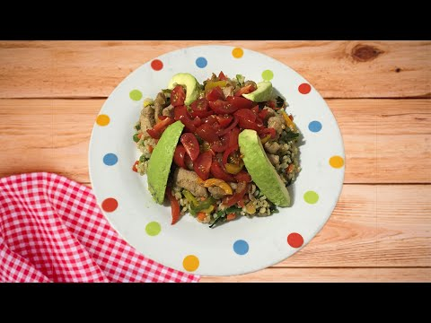 Spinach Rice and Stir Fried Chicken – Spinach Rice Recipe (Awesome Post Workout Meal)
