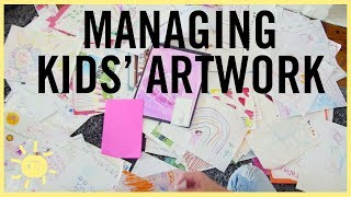 ORGANIZE | Managing Kids Artwork!! (Fool Proof System)