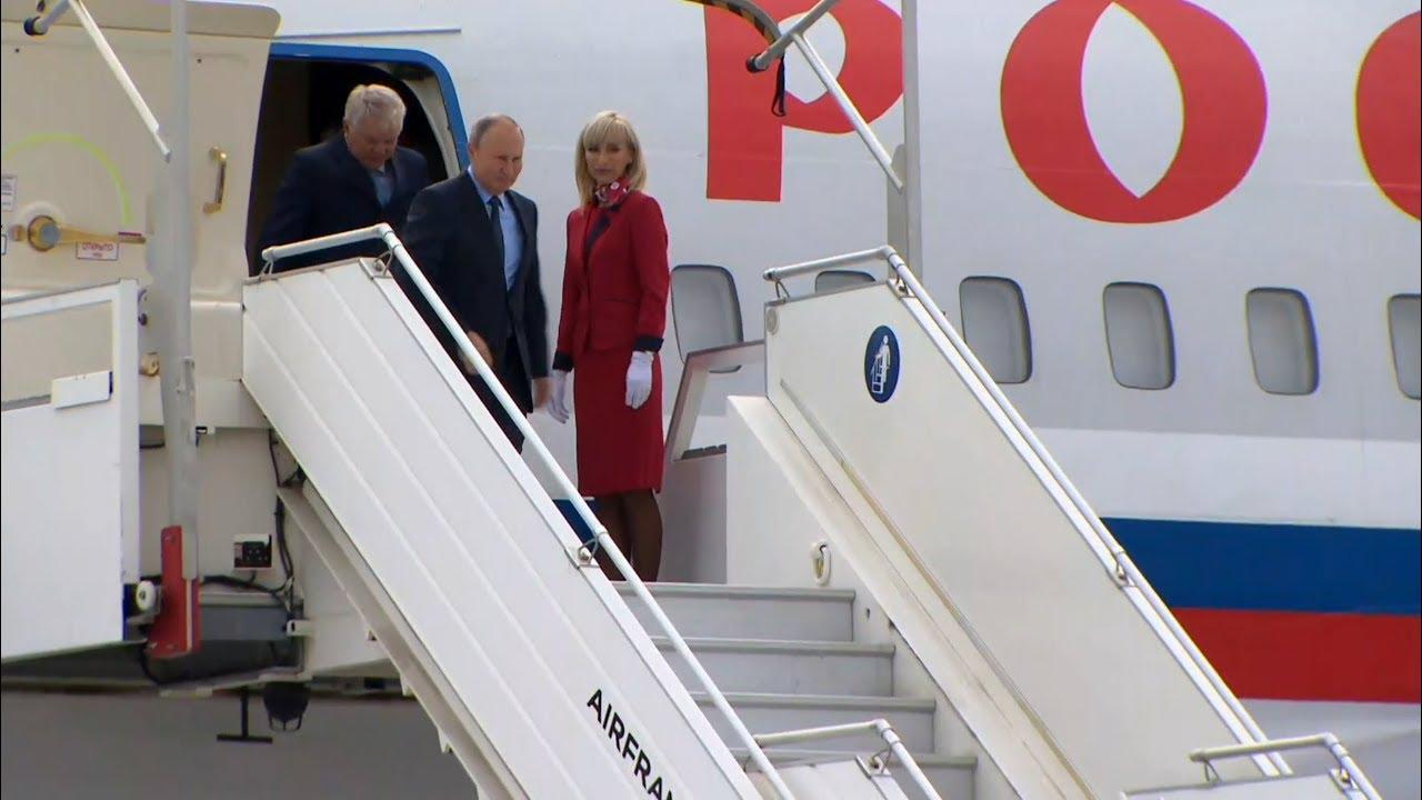 Путин прибыл в Марсель, где его ожидал вертолет для встречи с Макроном
