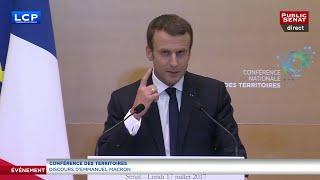 Conférence des territoires - Discours intégral d'Emmanuel Macron