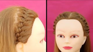 Beautiful French Braid Hairstyles // Girls Hairband Hairstyles // Wedding Hairstyles