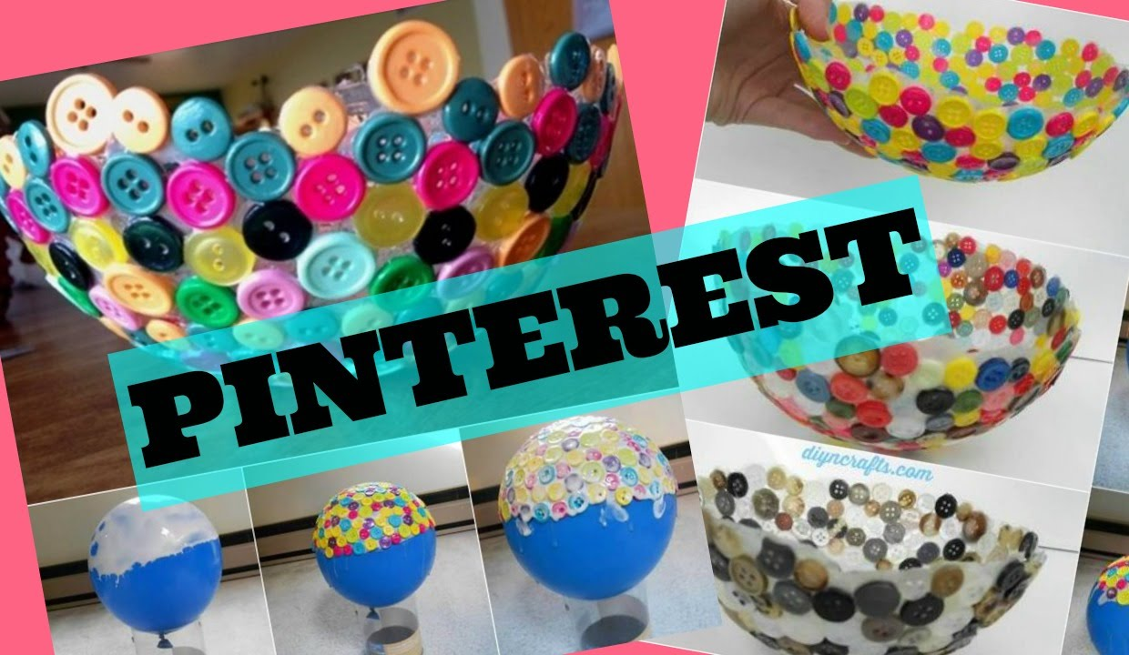 DIY PINTEREST BUTTON BOWL
