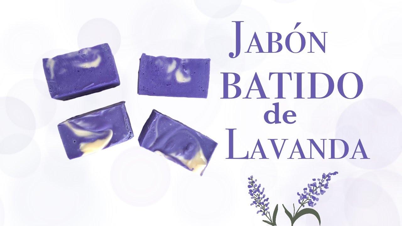 ❗️Cómo hacer JABÓN BATIDO de LAVANDA 🌿 | JABONES ARTESANALES