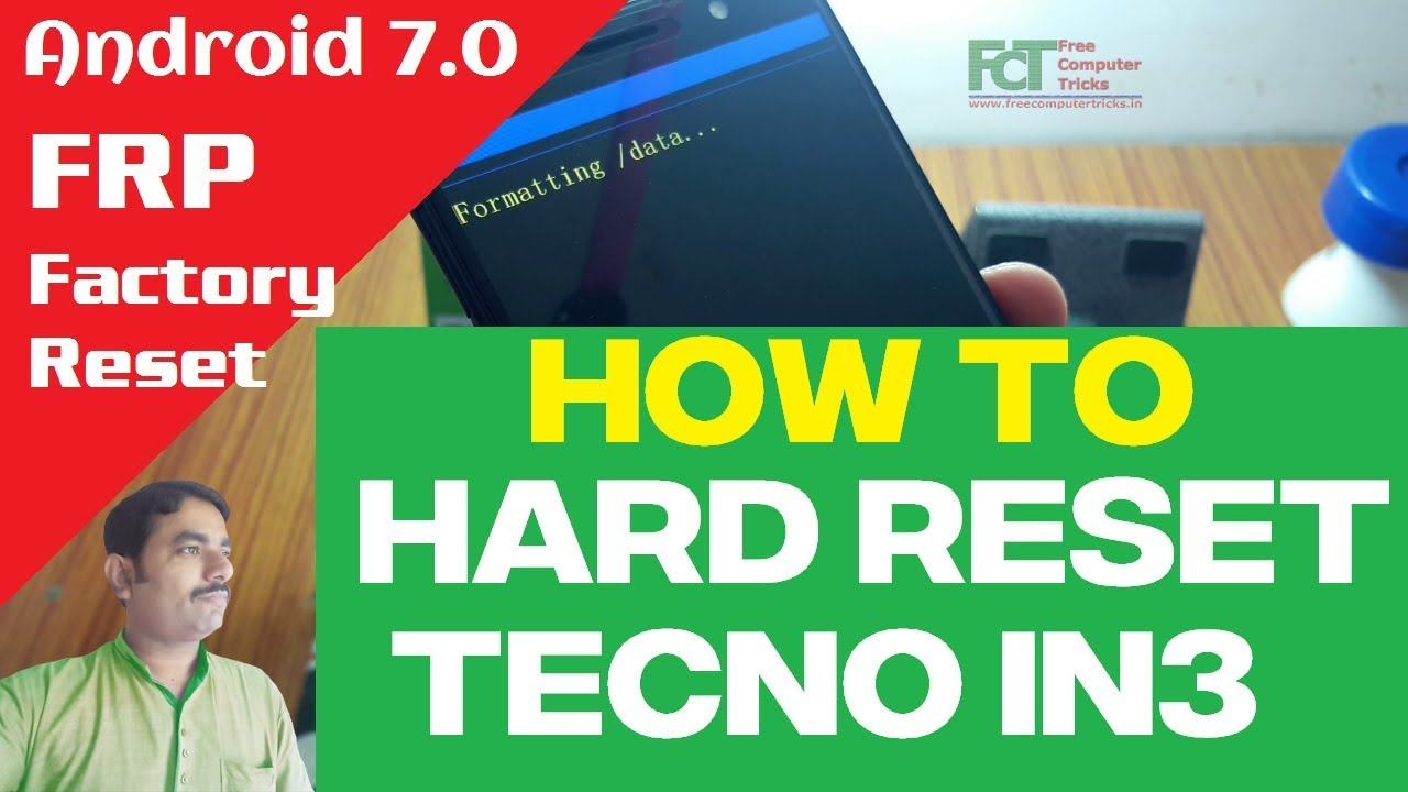 How To Hard Reset TECNO IN3 - Android 7 0