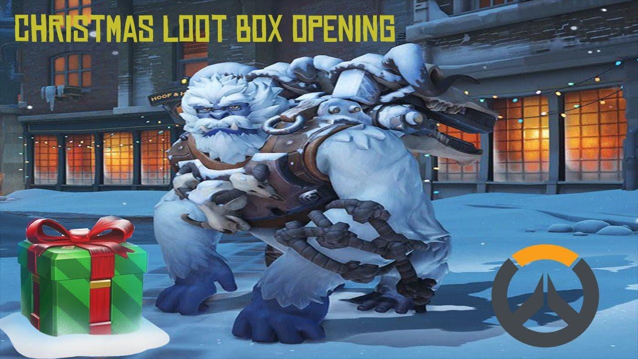 Winston Christmas Skin.Overwatch Christmas Loot Box Opening Winston Yeti Skin Unboxing Hd