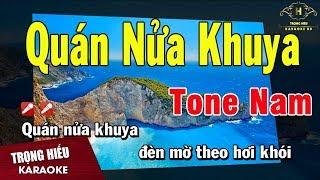 Karaoke Quán Nữa Khuya Tone Nam Nhạc Sống | Trọng Hiếu