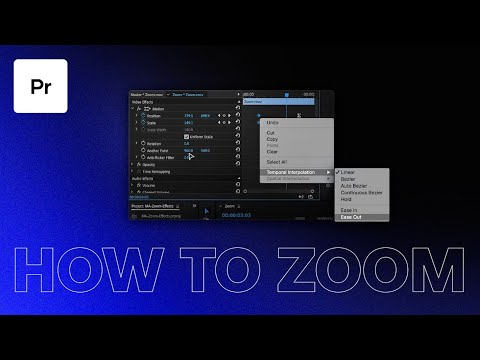 How to zoom in to a particular region of a video using Adobe