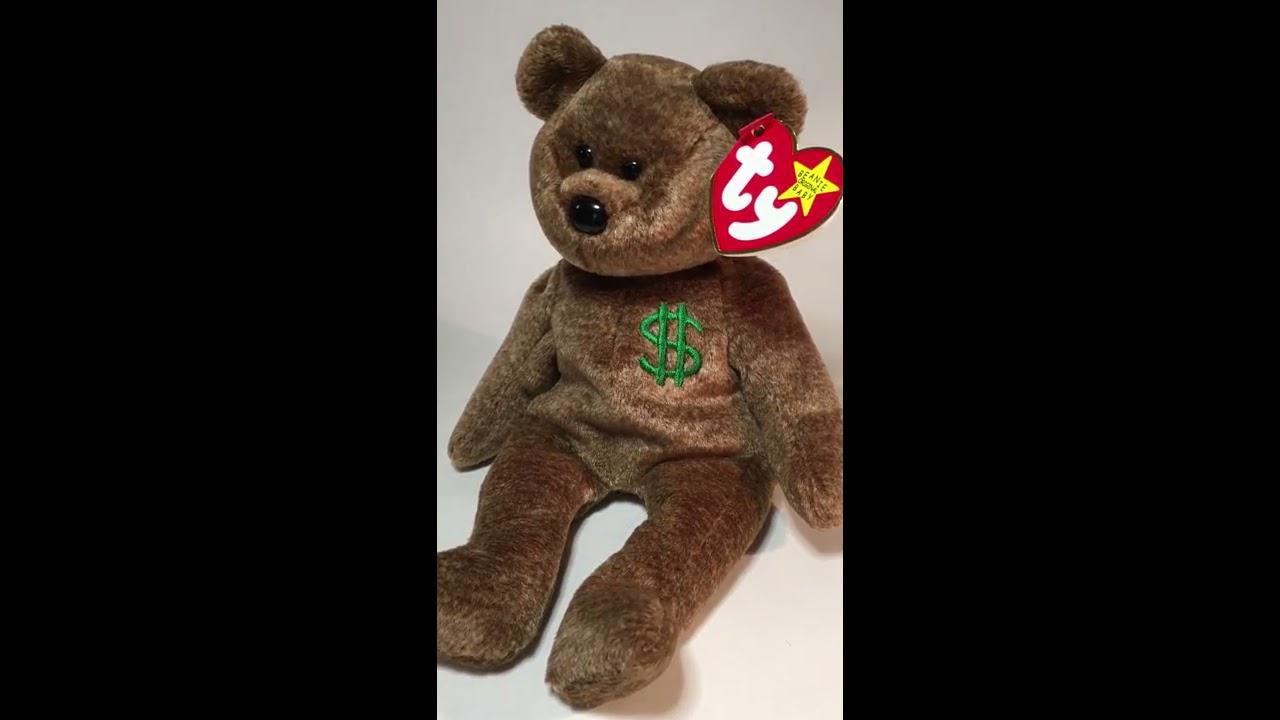 0c2e20d55a0 Authentic Ty Billionaire  1 Bear Beanie Baby - YouTube