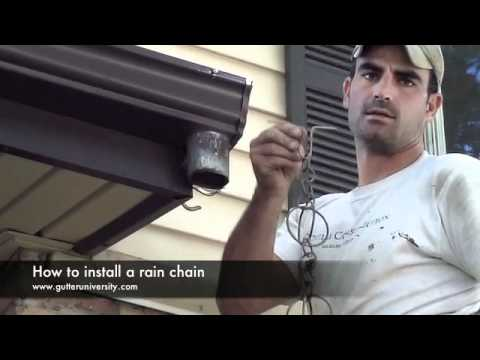 How To Install A Rain Chain Youtube