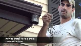 How to install a rain chain
