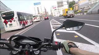 いわき市平 バイクでいわき駅周辺を走った