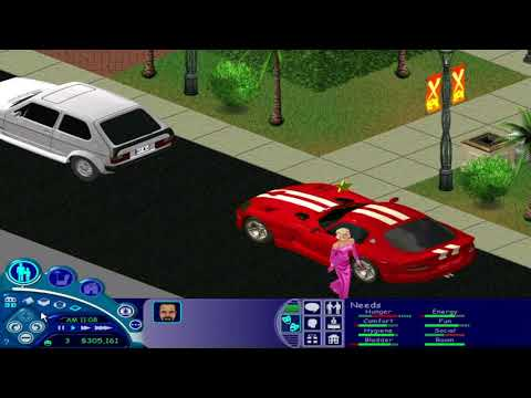 Sims 1- Getting a Fame Star