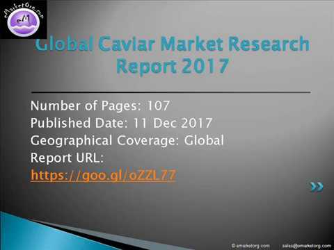 Global Caviar Market - Global Industry Growth, Size, Trends, Share, Opportunities and Forecast