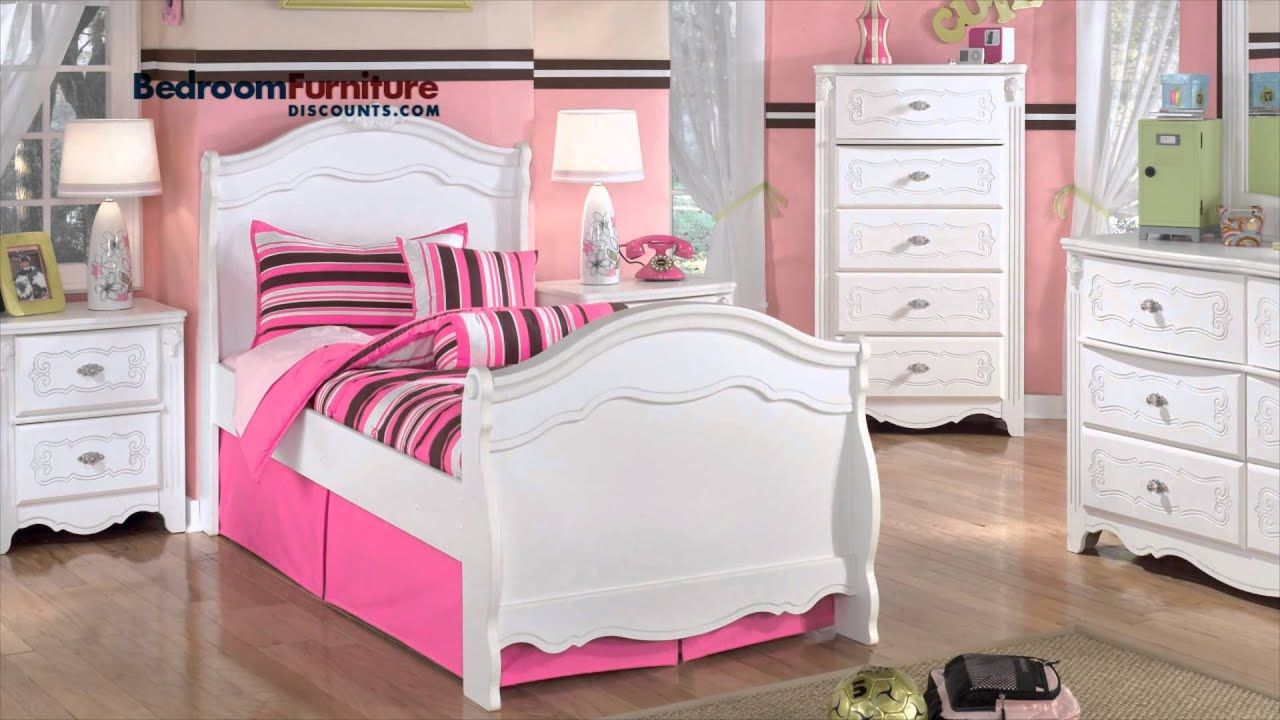 ashley exquisite youth bedroom set youtube 11523 | maxresdefault