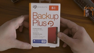 Seagate Backup Plus Portable 5TB, unboxing