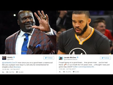 SHAQ VS JAVALE MCGEE AMAZING TWITTER FIGHT WARRIORS KEVIN DURANT AND STEVE KERR RESPOND- NBA DRAMA