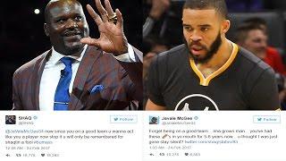 SHAQ VS JAVALE MCGEE AMAZING TWITTER FIGHT WARRIORS KEVIN DURANT AND STEVE KERR RESPOND- NBA DRAMA