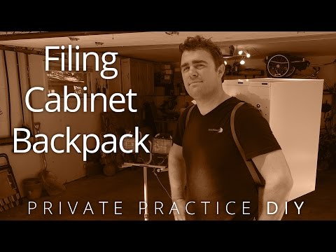 Turning a Filing Cabinet into a Backpack - Private Practice DIY