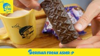 ASMR eating no talking: Coffee & Milka Tender: Black Forrest cake!