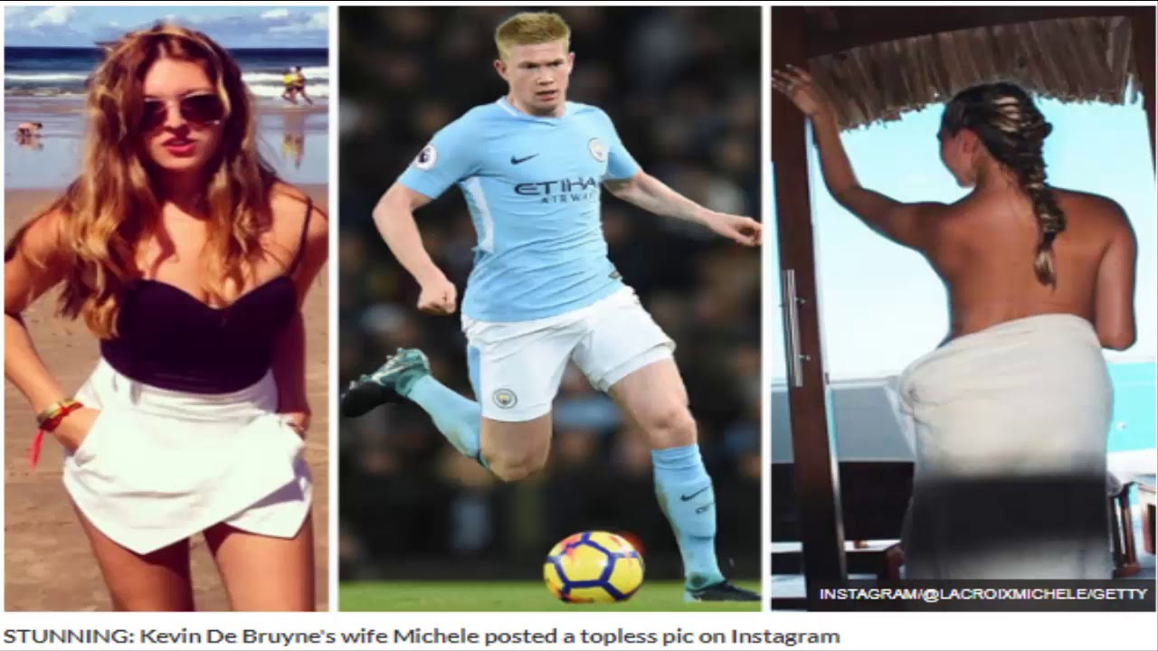 kevin de bruyne's wife stuns web with topless snap as star helps man