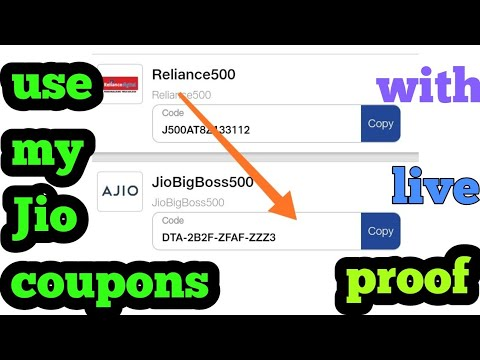 How to use my Jio coupon code with live proof
