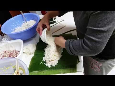 Cách Gói Bánh Tét.