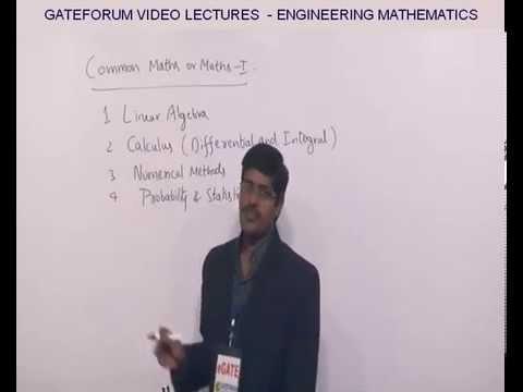 GATEFORUM Video Lectures Engineering Mathematics