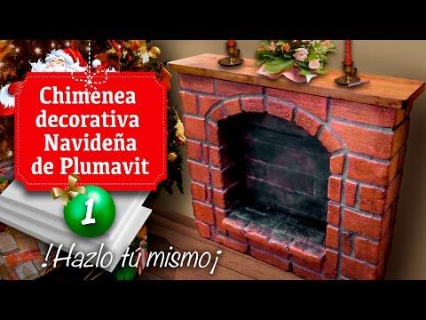 Como hacer una chimenea r stica de ladrillos funnydog tv - Hacer chimenea decorativa ...