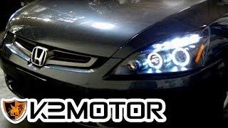 K2 MOTOR INSTALLATION VIDEO: 2003 - 2007 HONDA ACCORD PROJECTOR HEADLIGHTS