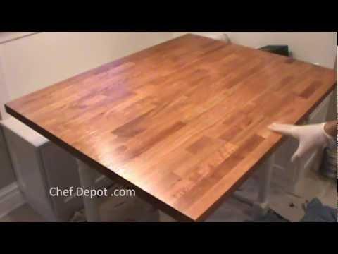 Refinish Butcher Block - DIY