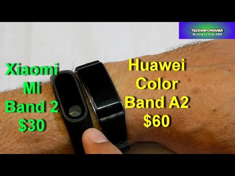 Mi Band 2 and Huawei Color Band A2