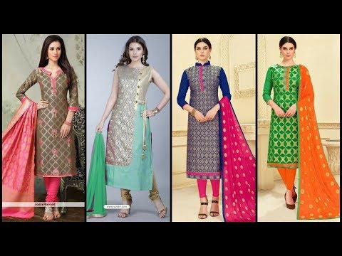 Latest & Beautiful Churidar Suit Design Collection/Churidar Suit Colour Combination Ideas