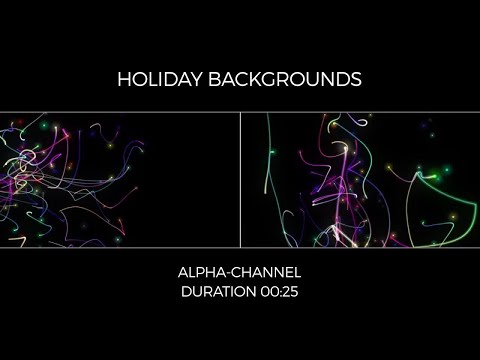 Holiday Backgrounds Motion Graphics