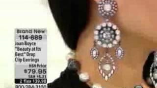 """Joan Boyce """"Beauty at Its Best"""" Drop Clip Earrings  Joan Boyce"""