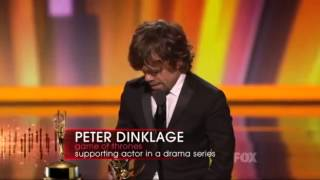 Peter Dinklage wins an EMMy for Game of Thrones 2011