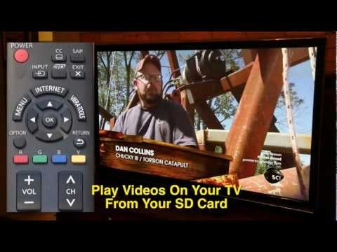 Watch Videos Through SD Card On Panasonic Viera TC-P55UT50 Plasma