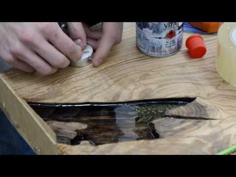 Как мастера ALiSiO делают стол с эпоксидной смолой/ дизайнерский стол из эпоксидной смолы