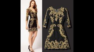 Супер вышивка на одежде! Красота вышивания на платьях!