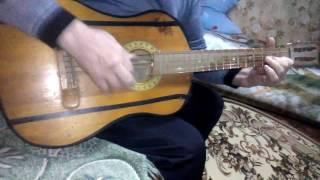 Игра на гетаре .песня Гимнастика.три четыре .70тые рулят