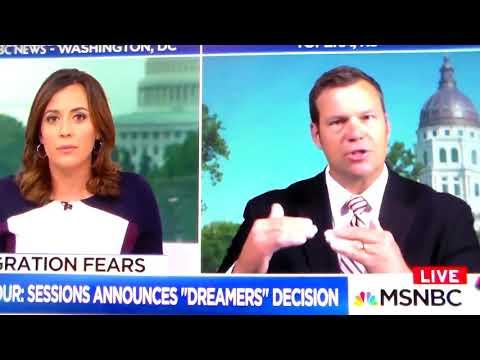 The GOP Fails Again Racist Chris Kobach Lies About DACA Receipiants