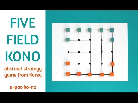 Five Field Kono Abstract Strategy Game From Korea Youtube