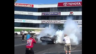 Blown Hemi Plymouth Belvedere  Burnout Contest mopars etown 8-22-15