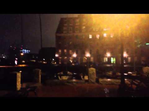 Sandy- Waves picking up a little bit in Inner Boston Harbor